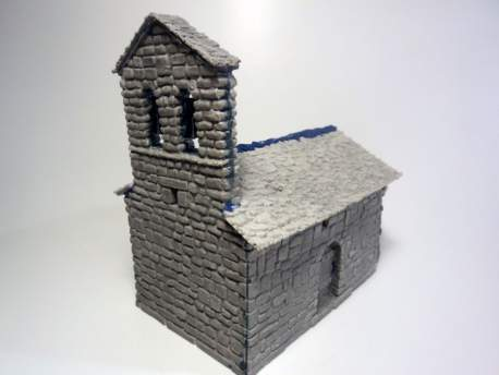 Spanish Romanesque Small Church 1:56 (28mm)