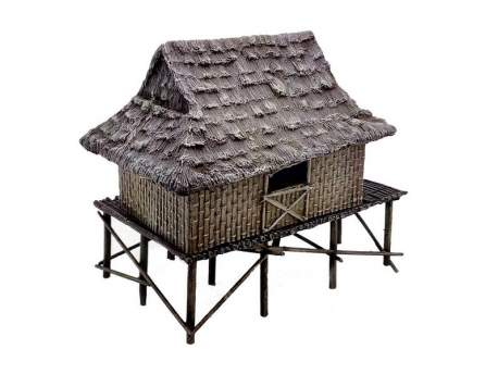 Vietnam House with Bamboo Reed Walls 1:56 (28mm)