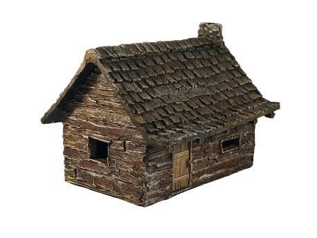 French Indian War Log Cabin (B) 1:56 (28mm)