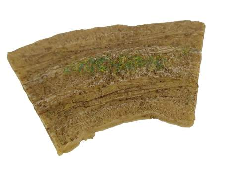 Dirt road – bent section , 15mm 1:100 scale