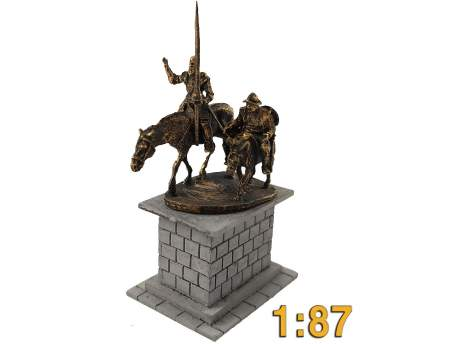 Don Quixote monument, HO scale (1/87)