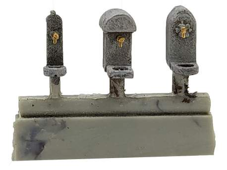 Drinking water fountain, set of 3, HO scale (1/87)